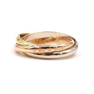 Rose Pink 18k 750 Trinity Size 48 4.25 Ring